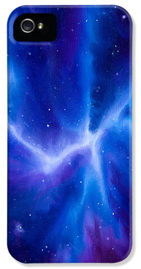Spider IPhone 5 Case featuring the painting Spider Nebula by James Christopher Hill