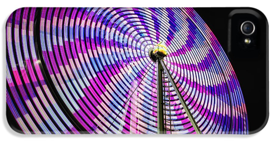 Action IPhone 5 Case featuring the photograph Spinning Disk by Joan Carroll