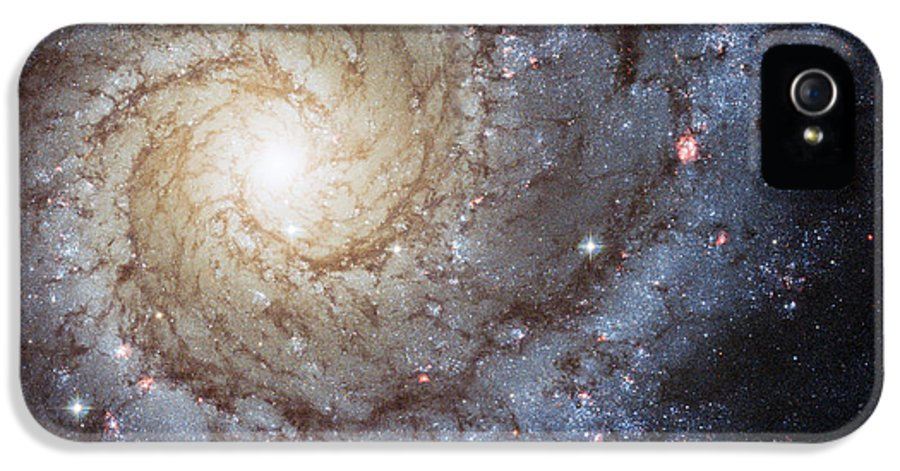 3scape Photos IPhone 5 Case featuring the photograph Spiral Galaxy M74 by Adam Romanowicz