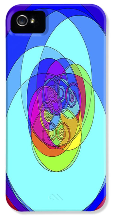 Abstract IPhone 5 Case featuring the digital art Spirals - Phone Case Design by Gregory Scott