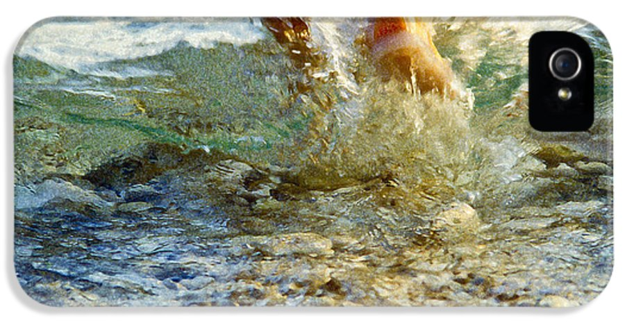 Water IPhone 5 Case featuring the photograph Splish Splash by Heiko Koehrer-Wagner