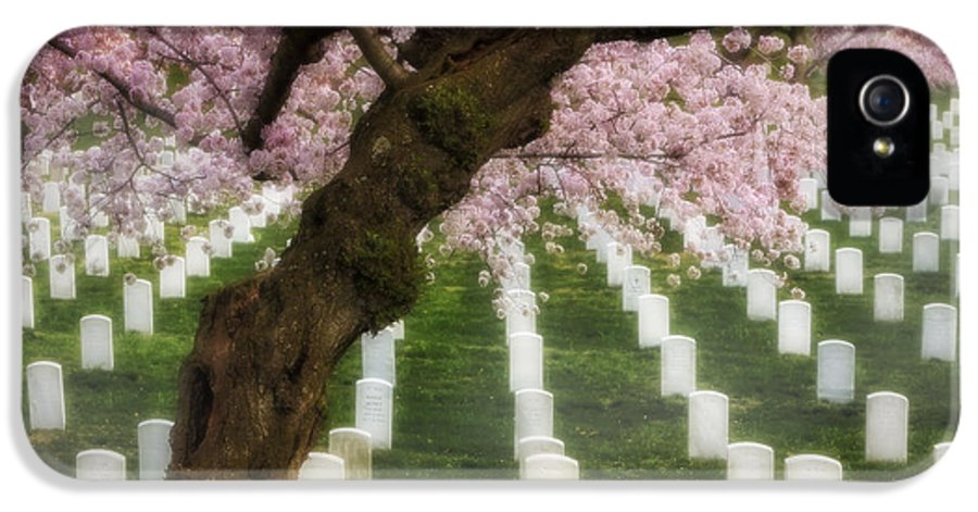 America IPhone 5 Case featuring the photograph Spring Arives At Arlington National Cemetery by Susan Candelario