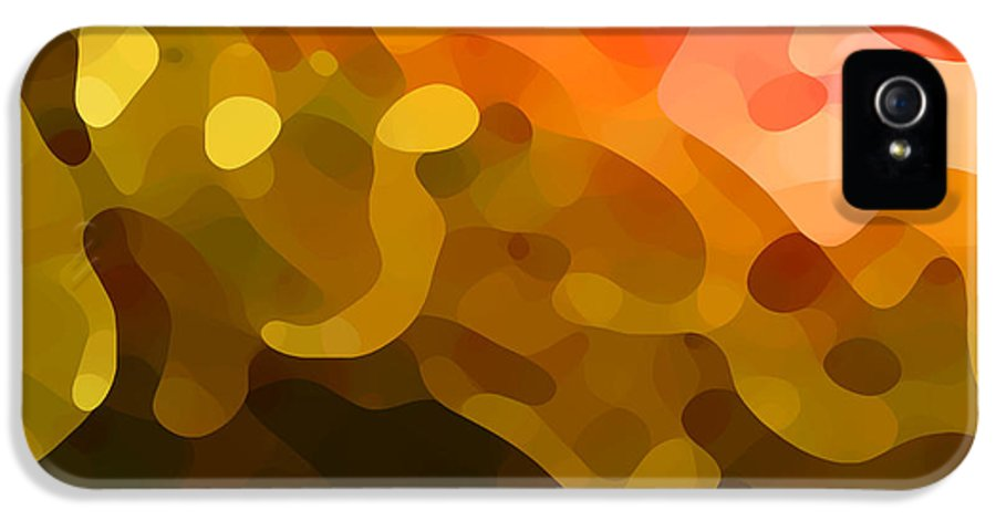 Abstract IPhone 5 Case featuring the painting Spring Day by Amy Vangsgard