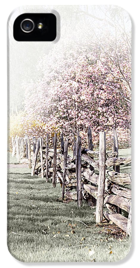 Landscape IPhone 5 Case featuring the photograph Spring Landscape With Fence by Elena Elisseeva