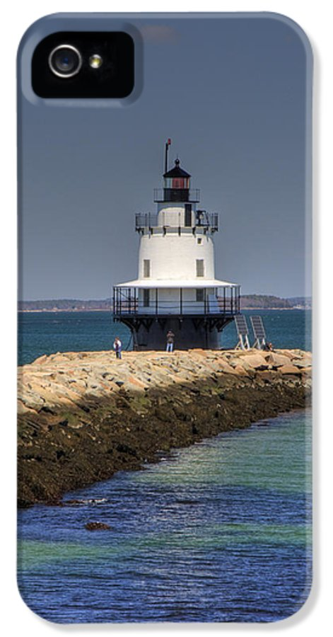 Ocean IPhone 5 Case featuring the photograph Spring Point Ledge Light by Joann Vitali
