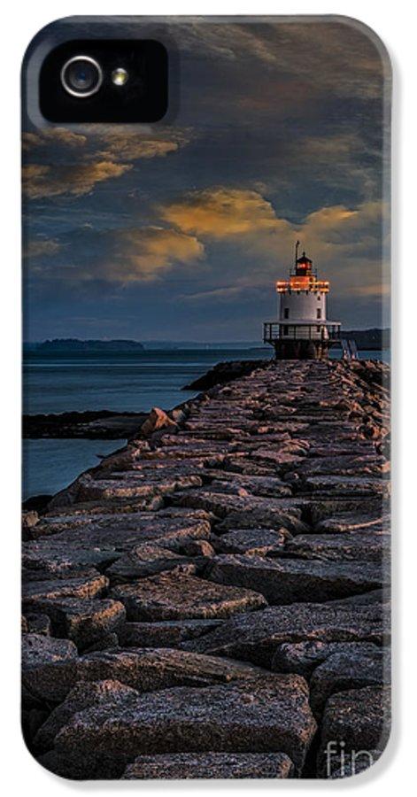 Spring Point Ledge Light IPhone 5 Case featuring the photograph Spring Point Ledge Lighthouse by Susan Candelario