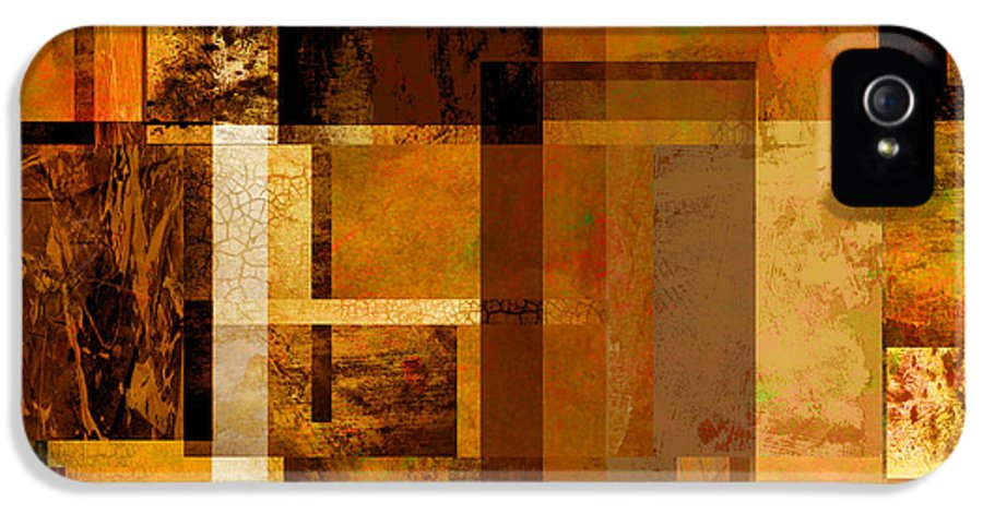 Abstract IPhone 5 Case featuring the digital art Squares And Rectangles by Ann Powell