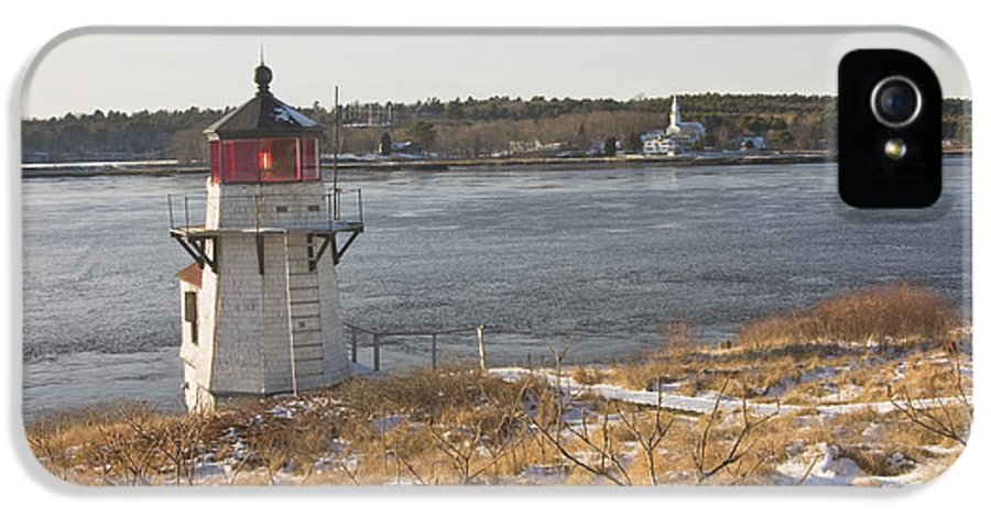 Maine IPhone 5 Case featuring the photograph Squirrel Point Lighthouse Kennebec River Maine by Keith Webber Jr