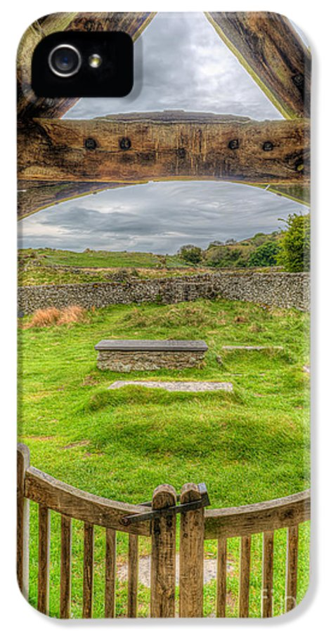 British IPhone 5 Case featuring the photograph St Celynnin Graveyard by Adrian Evans