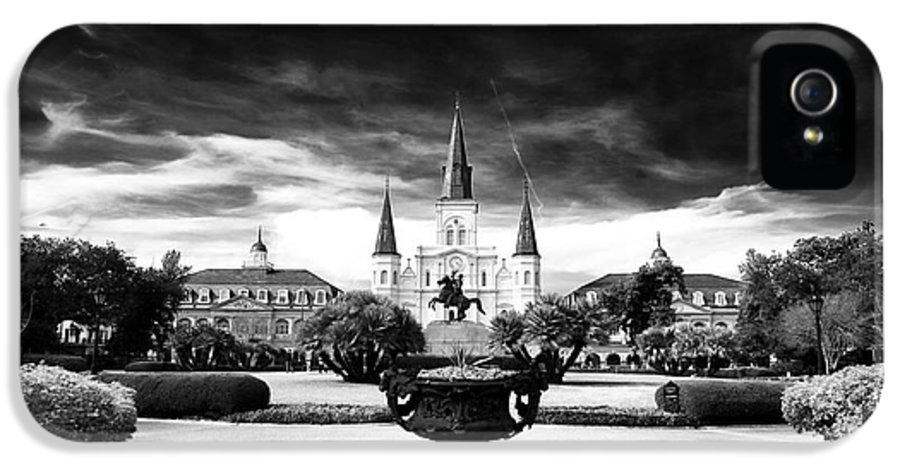 New Orleans IPhone 5 Case featuring the photograph St. Louis Cathedral by John Rizzuto