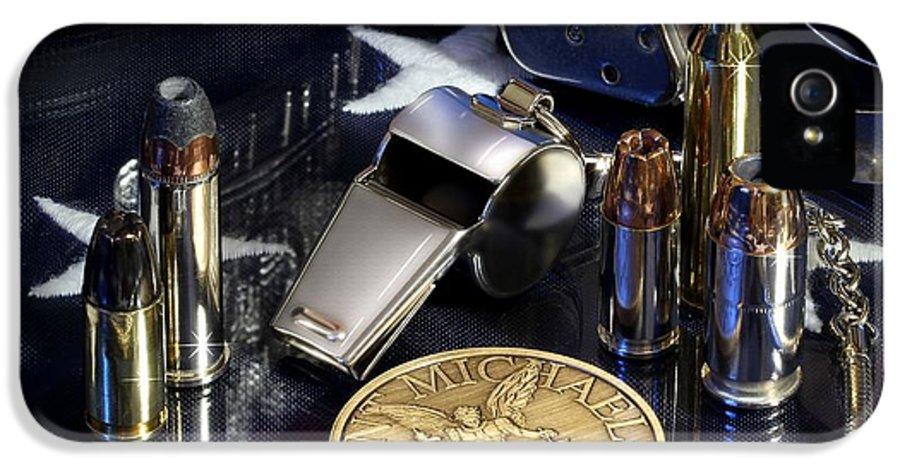 Law Enforcement IPhone 5 Case featuring the photograph St Michael Law Enforcement by Gary Yost