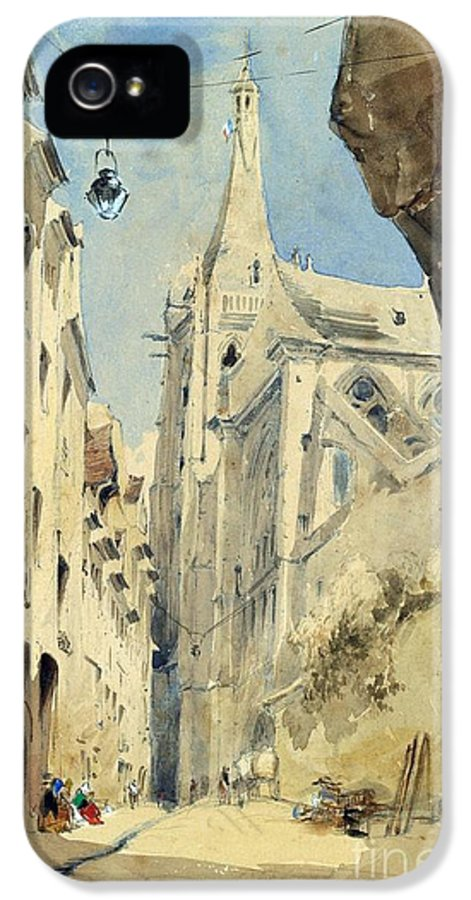 St IPhone 5 / 5s Case featuring the painting St. Severin Paris by James Holland