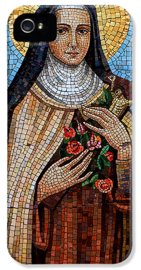 Mosaic IPhone 5 Case featuring the photograph St. Theresa Mosaic by Andrew Fare