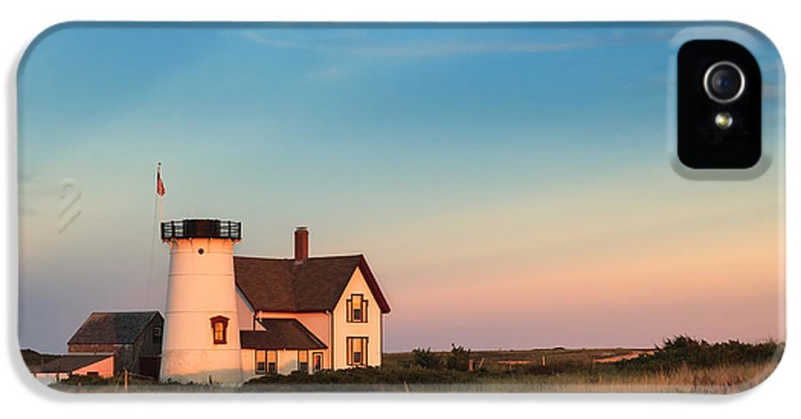 Cape Cod IPhone 5 Case featuring the photograph Stage Harbor Lighthouse by Bill Wakeley