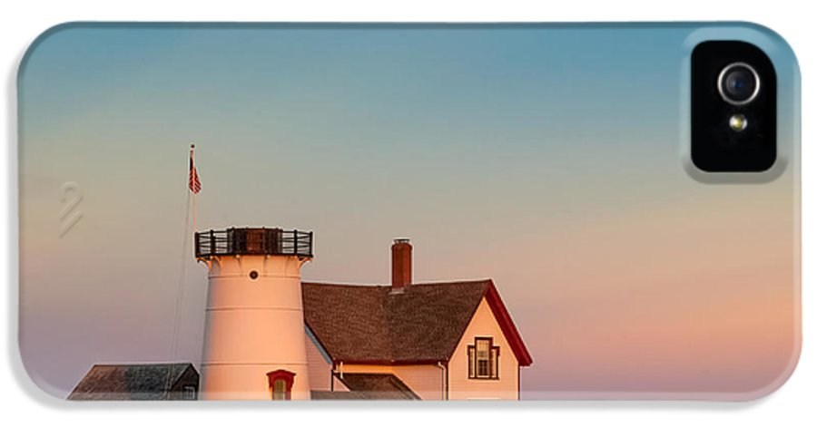 Cape Cod IPhone 5 Case featuring the photograph Stage Harbor Lighthouse Square by Bill Wakeley