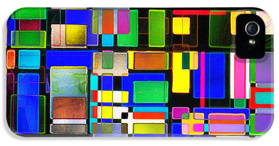 Abstracts IPhone 5 Case featuring the photograph Stained Glass Window II Multi-coloured Abstract by Natalie Kinnear