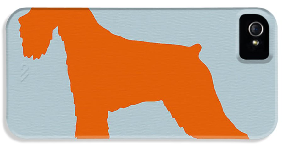 Standard Schnauzer IPhone 5 / 5s Case featuring the photograph Standard Schnauzer Orange by Naxart Studio