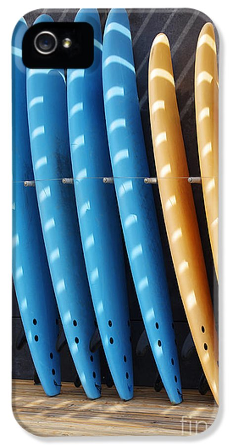 Background IPhone 5 Case featuring the photograph Standing Surf Boards by Carlos Caetano