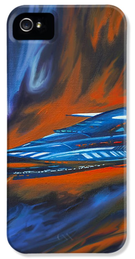 Jameshillgallery.com IPhone 5 / 5s Case featuring the painting Star Cruiser by James Christopher Hill