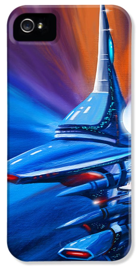 James Christopher Hill IPhone 5 Case featuring the painting Star Drive by James Christopher Hill