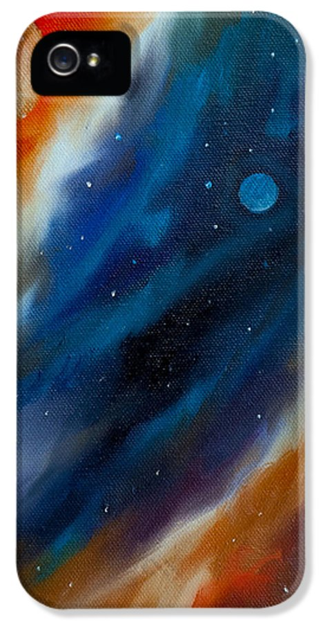 James Christopher Hill IPhone 5 Case featuring the painting Star System 2034 by James Christopher Hill