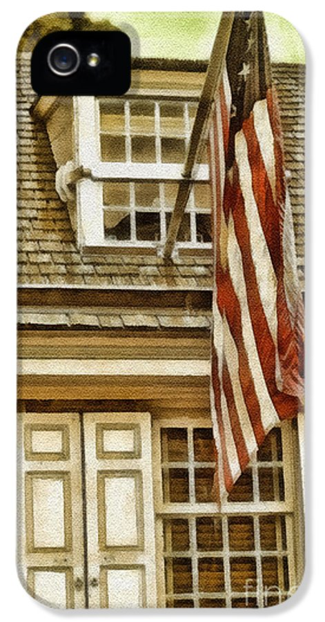 Stars And Tripes IPhone 5 Case featuring the painting Stars And Stripes by Mo T