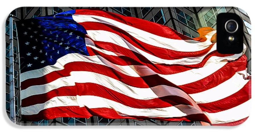 American Flag IPhone 5 Case featuring the photograph Stars And Stripes by Rene Triay Photography