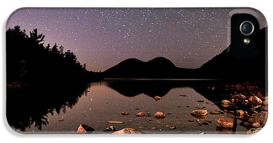 Jordan Pond IPhone 5 Case featuring the photograph Stars Over The Bubbles by Brent L Ander