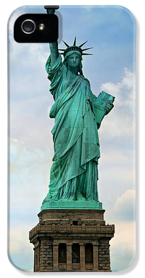Statue IPhone 5 Case featuring the photograph Statue Of Liberty by Stephen Stookey