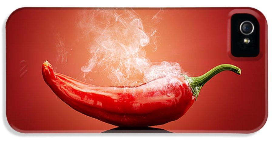 Chilli IPhone 5 Case featuring the photograph Steaming Hot Chilli by Johan Swanepoel