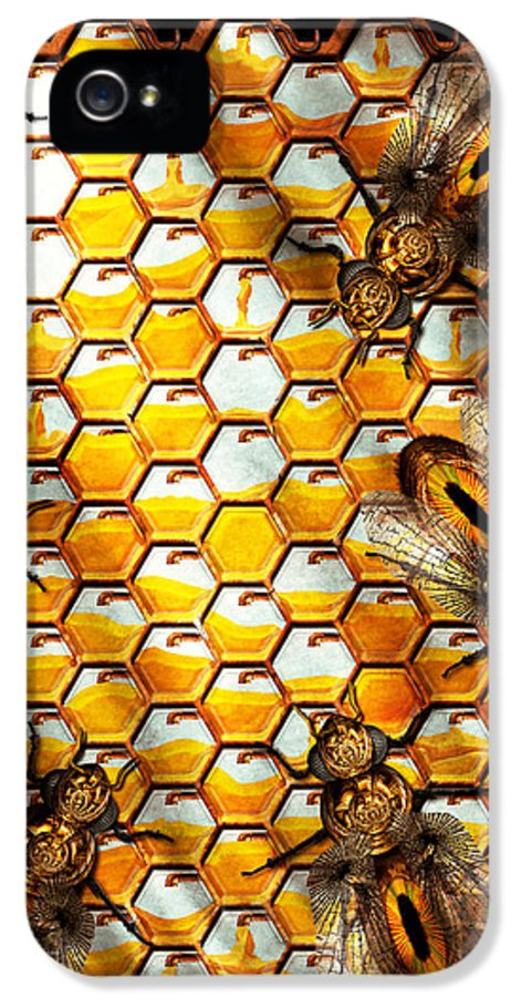 Self IPhone 5 Case featuring the photograph Steampunk - Apiary - The Hive by Mike Savad