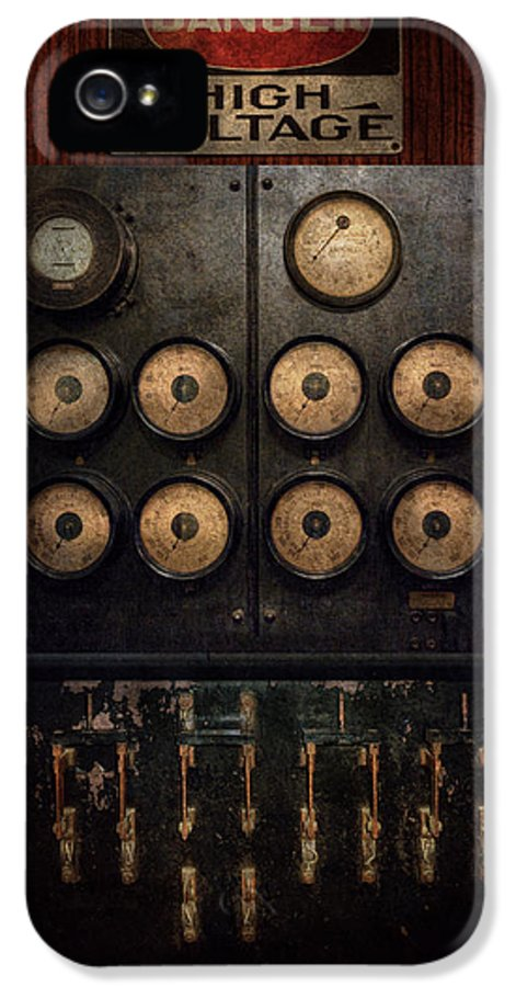 Steampunk IPhone 5 Case featuring the photograph Steampunk - Electrical - Center Of Power by Mike Savad