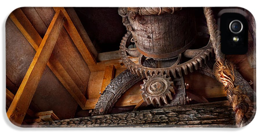 Savad IPhone 5 Case featuring the photograph Steampunk - Gear - Out Of Order by Mike Savad