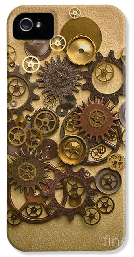 Gears IPhone 5 Case featuring the photograph Steampunk Gears by Diane Diederich