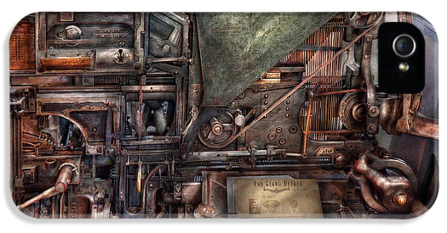 Steampunk IPhone 5 Case featuring the photograph Steampunk - Machine - All The Bells And Whistles by Mike Savad