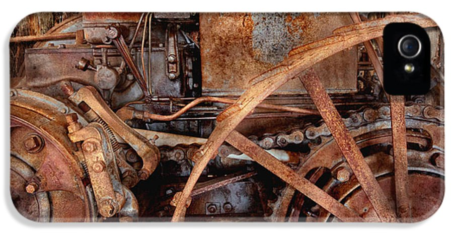 Steampunk IPhone 5 Case featuring the photograph Steampunk - Machine - The Industrial Age by Mike Savad