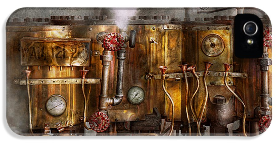Steampunk IPhone 5 Case featuring the photograph Steampunk - Plumbing - Distilation Apparatus by Mike Savad