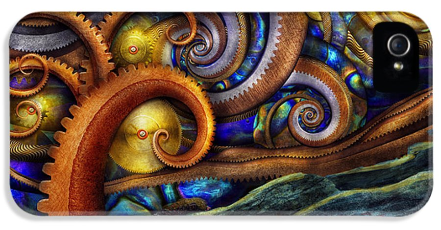Savad IPhone 5 Case featuring the photograph Steampunk - Starry Night by Mike Savad