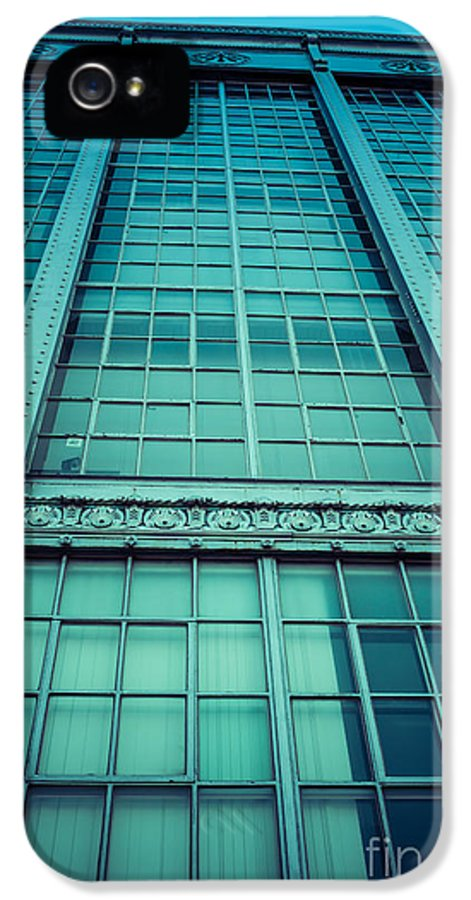 Building IPhone 5 Case featuring the photograph Steel And Glass by Edward Fielding