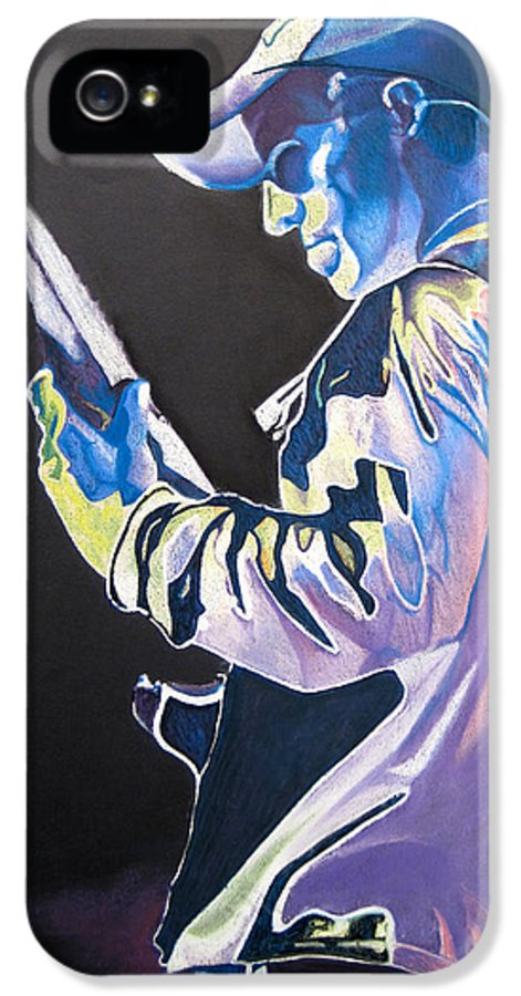 Stefan Lessard IPhone 5 Case featuring the drawing Stefan Lessard Colorful Full Band Series by Joshua Morton