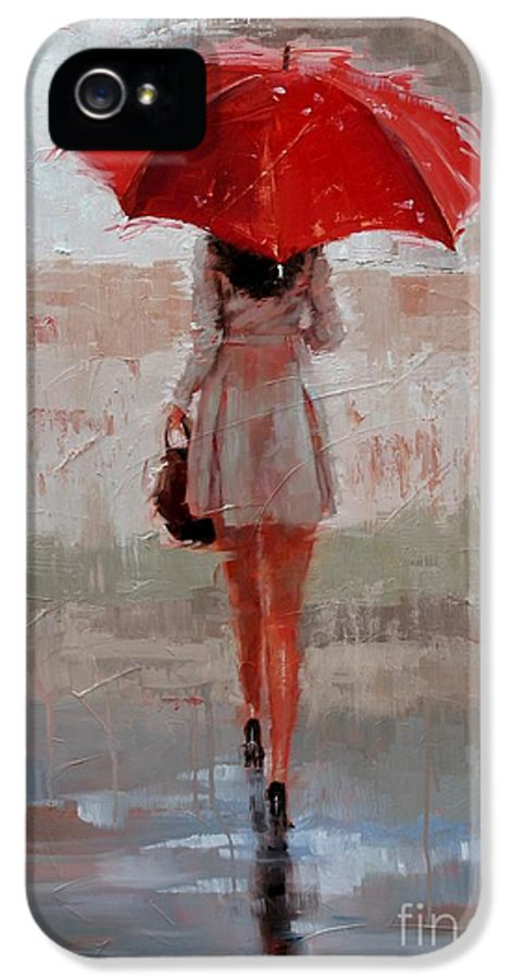 Laura Zanghetti IPhone 5 Case featuring the painting Stepping Out by Laura Lee Zanghetti