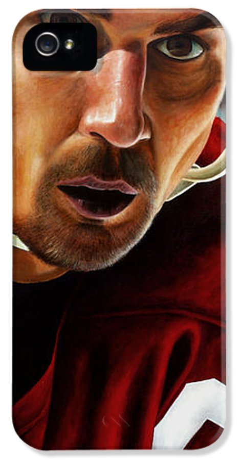 Sports IPhone 5 Case featuring the painting Stevie Y by Marlon Huynh