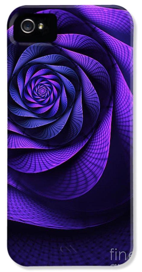 Art Nouveau Flower IPhone 5 Case featuring the digital art Stile Floreal by John Edwards