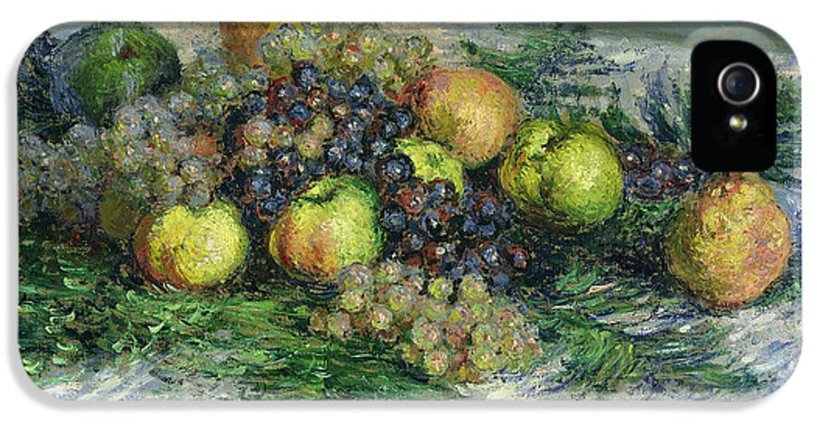 Pear IPhone 5 Case featuring the painting Still Life With Pears And Grapes by Claude Monet