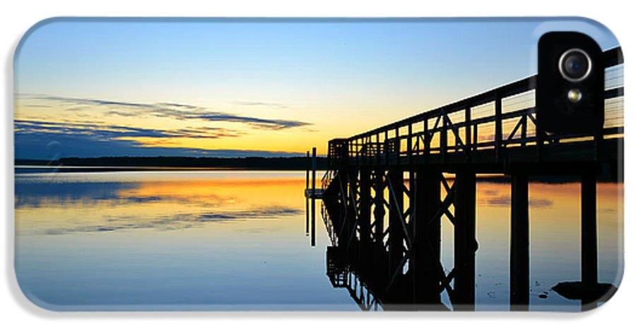 Jordan Lake IPhone 5 Case featuring the photograph Stillness by Kelly Nowak