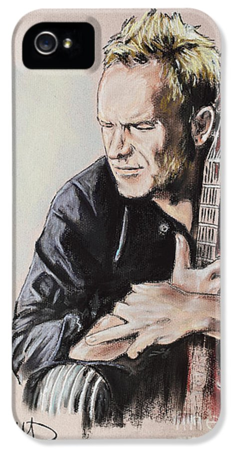 Sting IPhone 5 Case featuring the drawing Sting by Melanie D