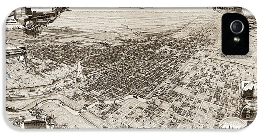 Stockton IPhone 5 Case featuring the photograph Stockton San Joaquin County California 1895 by California Views Mr Pat Hathaway Archives
