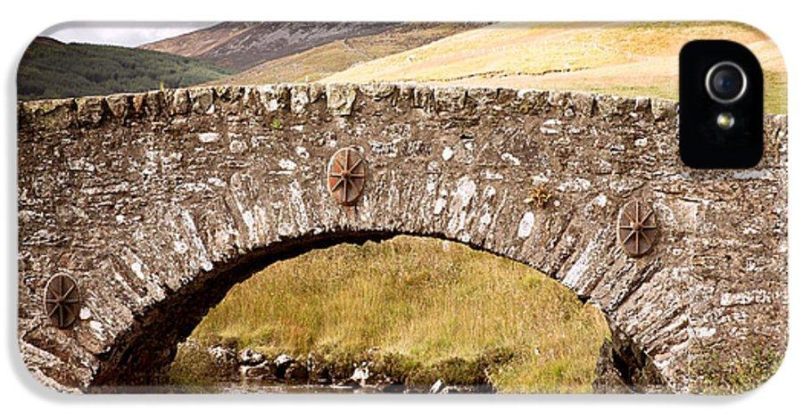 Bridge IPhone 5 Case featuring the photograph Stone Bridge Highlands by Jane Rix