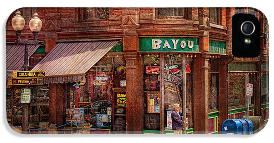Pearl St IPhone 5 Case featuring the photograph Store - Albany Ny - The Bayou by Mike Savad