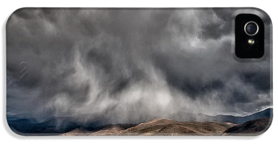 Storm IPhone 5 Case featuring the photograph Storm Clouds by Cat Connor